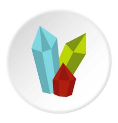 Diamonds icon circle vector