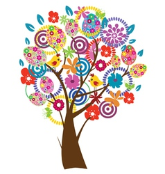 Easter Beautiful Tree vector image