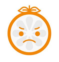 emoji - angry orange isolated vector image