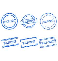 Export stamps vector