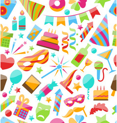 Festive Seamless Wallpaper with Carnival vector image
