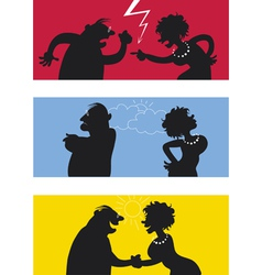 Fighting couple vector