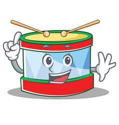 Finger toy drum character cartoon vector