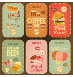 food labels vector image