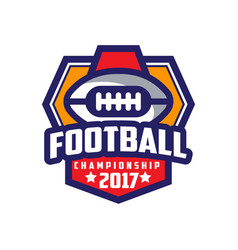 Football championship 2017 logo template american vector