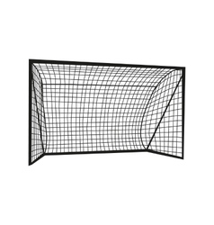 Football goal silhouette vector image