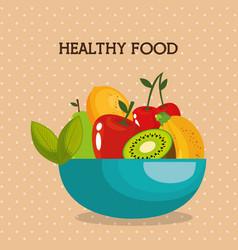 Fresh fruits healthy food vector