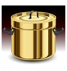 gold pan vector image