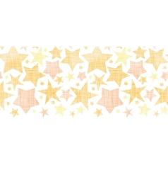 Golden stars textile textured horizontal seamless vector