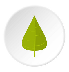 Green poplar leaf icon circle vector