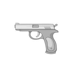 Gun icon black monochrome style vector image