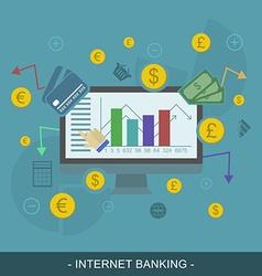 Internet banking editable concept vector
