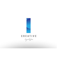 L blue gradient alphabet letter logo icon design vector