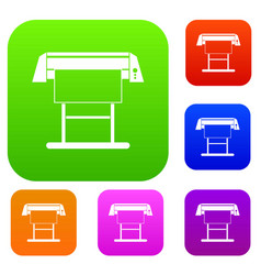 large format inkjet printer set collection vector image