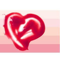 Lip Gloss heart shaped vector image