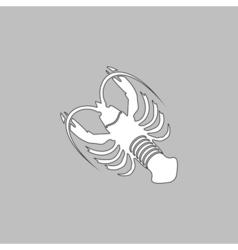 lobster computer symbol vector image