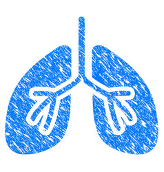 Lungs grunge icon vector