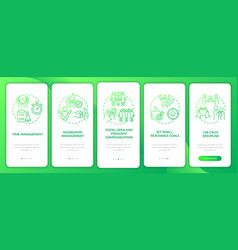 Managing adhd in kids onboarding mobile app page vector
