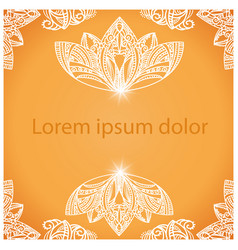 Mandala background for design or text vector