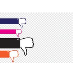 Many hands show dislike vector