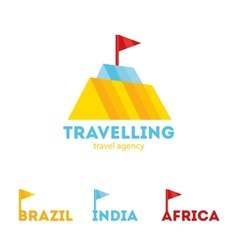 Modern bright creative travel company mountain vector
