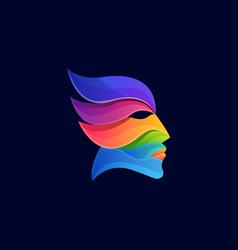 modern head logo psychology vector image