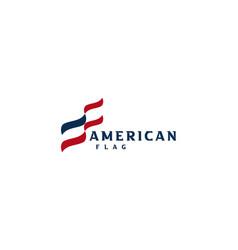 modern simple minimalist american us flag vector image