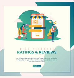 online shop ratings and reviews vector image