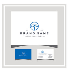 People law logo design and business card vector