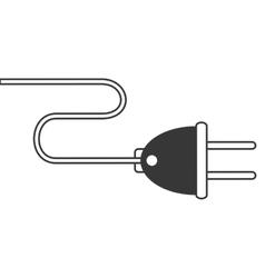 plug with cord icon vector image