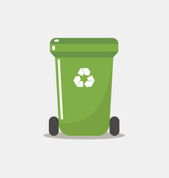 recycle bin flat style vector image
