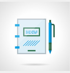 reminder book flat color icon vector image