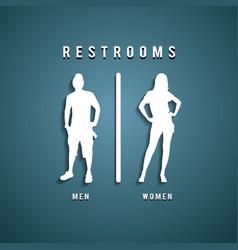 Restroom signs vector