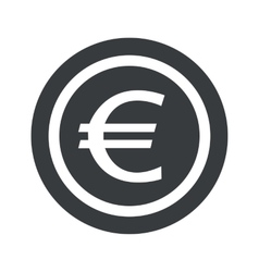 Round black euro sign vector image