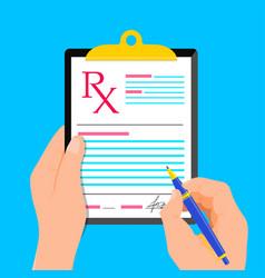 rx medical prescription vector image