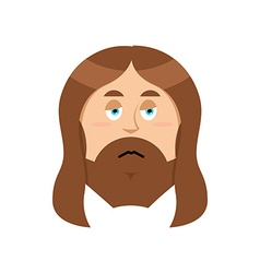 Sad Jesus Sorrowful Christ Bored Son of God Tired vector image