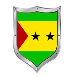 Sao Tome and Principe flag button vector image
