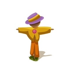 Scarecrow Simplified Cute vector image