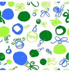 Seamless pattern with decoration balls hand drawn vector