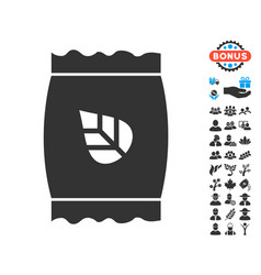 seed pack icon with free bonus vector image