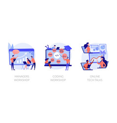 skills training concept metaphors vector image