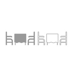 Table and two chair or armchair in restaurant icon vector
