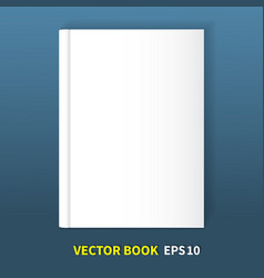 The book is in hardcover vector