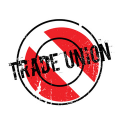 Trade union rubber stamp vector
