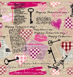 valentines grunge pattern vector image