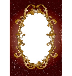 Vintage ornate frame vector image