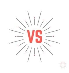 Vintage versus emblem like struggle vector