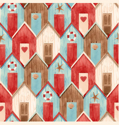 Watercolor house pattern vector