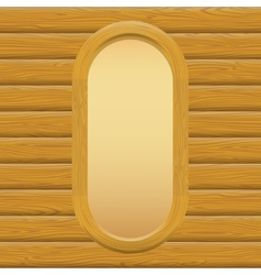 Wooden Framework with Paper on a Wall vector image