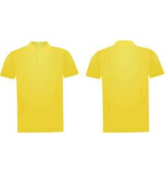 yellow polo t shirt vector image